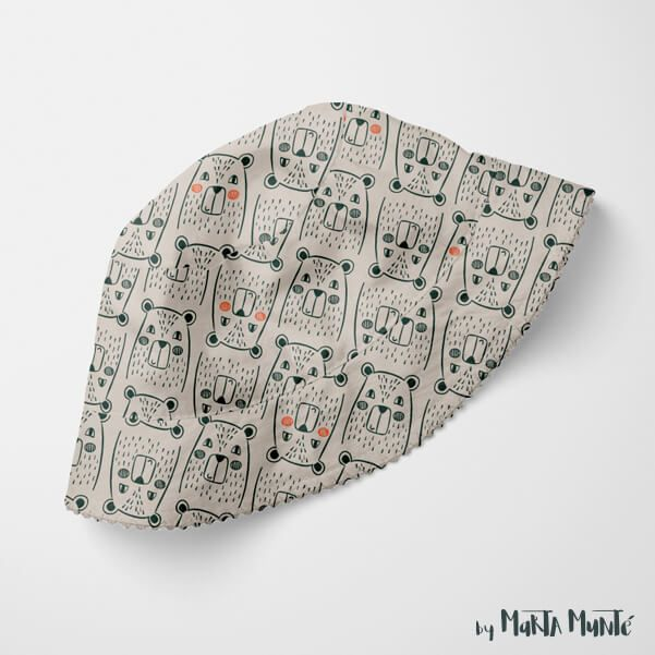 Forest Friends Pattern for fabric by Marta Munte Illustrator