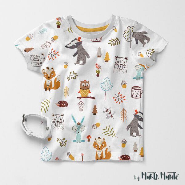 Forest Friends T shirt designed by Marta Munte