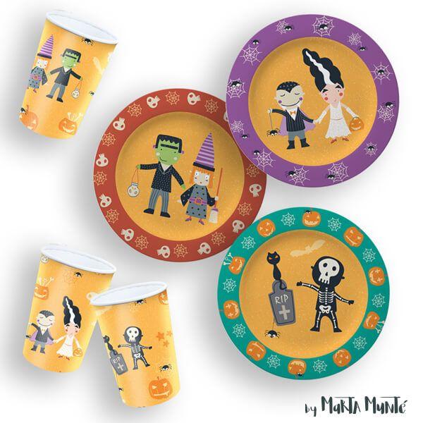 Halloween Party patterns designed by Marta Munte