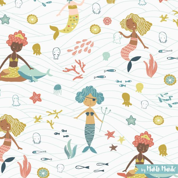 Mermaids patterns by marta munte