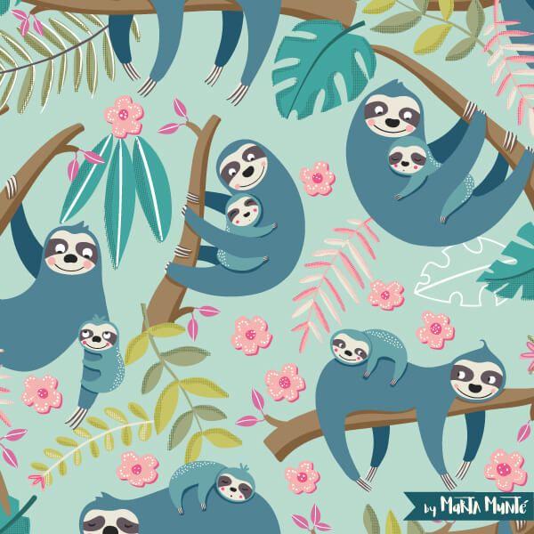 Sloth families patterns marta munte